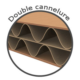 Carton double cannelure